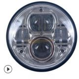 跨境热销7寸牧马人54W圆形大灯jeep高光束LED前照灯哈雷改装头灯