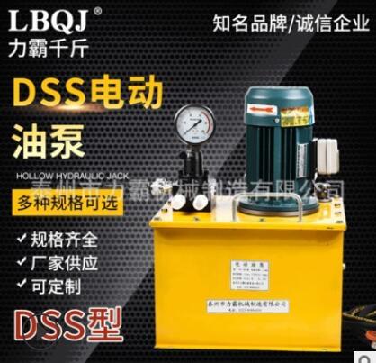厂家供应DSS电动液压泵液压油泵 单双作用千斤顶超高压油泵可定制